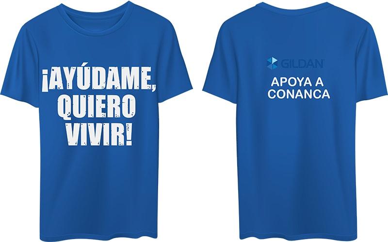camisas conanca azules